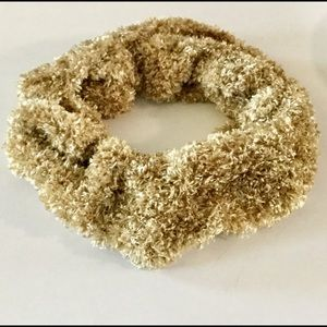 Infinity Scarf. Gold Chenille and soft as a Kitten